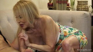63 blonde gilf fucks a 23 year old neightbour