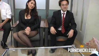 JAV Secretary fucked by her older boss