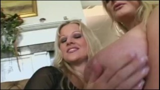 Big tits milf mom and her friend in wild group sex