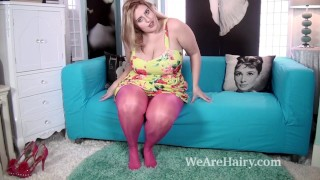Ellie Roe takes off stockings and dress to play