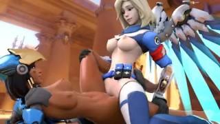 Mercy X Pharah Overwatch (SFM Animation) Uprising Skin