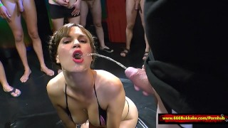 Huge Pissing gangbang – 666Bukkake