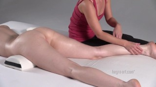 Redhead gets a very sexy and erotic spasm orgasm.