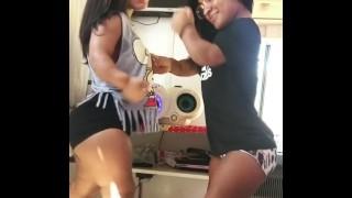 Two Brazilian Midgets Twerking
