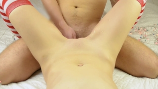 Beautiful christmas pussy job and cum on my pussy – female POV