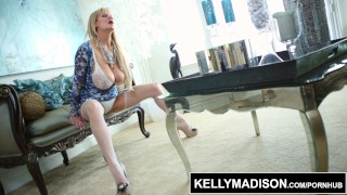 KELLY MADISON – Teasing in Blue Lingerie and Titty Fucking