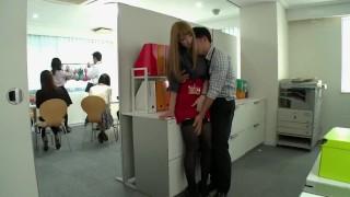 Japanese Office Stockings Fuck