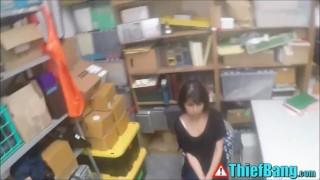 Asshole Security Man Dicks Captured Latin Teenage Thief