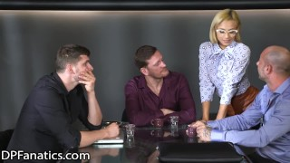 DPFanatics Hot Young Secretary Gangbanged in Conference Room
