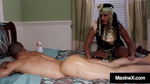 Asian Mommy Maxine X Spreads Her Thick Thighs For A Hard Cock In Her Pussy!